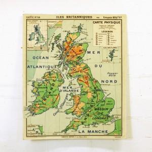 Carte scolaire Iles Britanniques