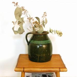 Pichet en céramique verte 1