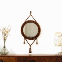 Miroir en bois années 50