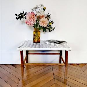 Table basse osier et bois 1