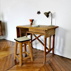 Bureau ancien en bois 1