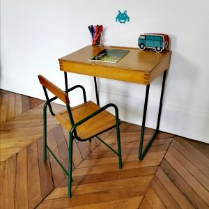 Ensemble bureau et chaise vintage 1