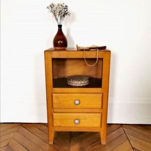 Chevet en bois vintage 1