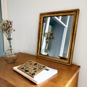 Petit miroir ancien doré 1
