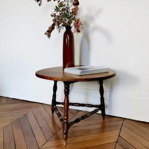 Table ancienne en bois tourné