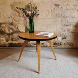 Table basse ronde en hêtre