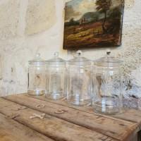 Série de 4 pots anciens de pharmacie