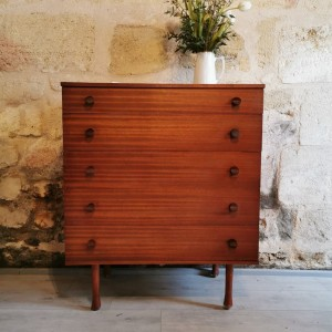 Commode en teck vintage 5T