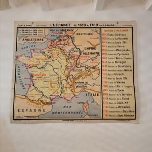 Carte scolaire La France de 1610 à 1789
