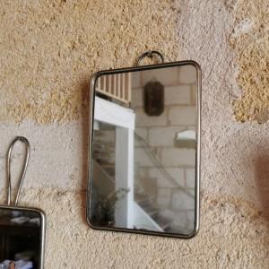 Miroir de barbier ancien 15x21cm