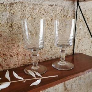 Ensemble de 2 verres anciens