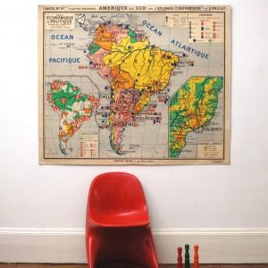 Carte scolaire Amérique du Sud