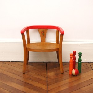 Petit fauteuil Baumann grenadine
