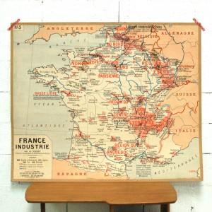 Carte scolaire Industries en France