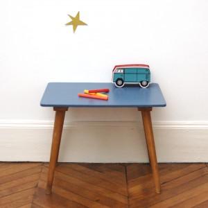 Petit bureau bleu China Blue